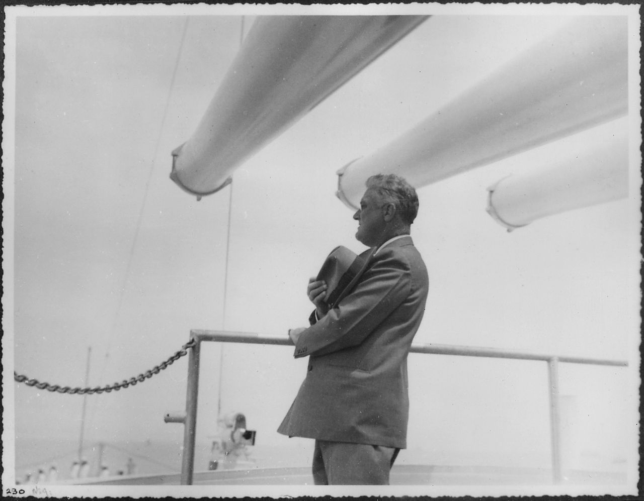 FDR aboard the USS Indianapolis