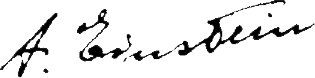 Albert Einstein's signature.