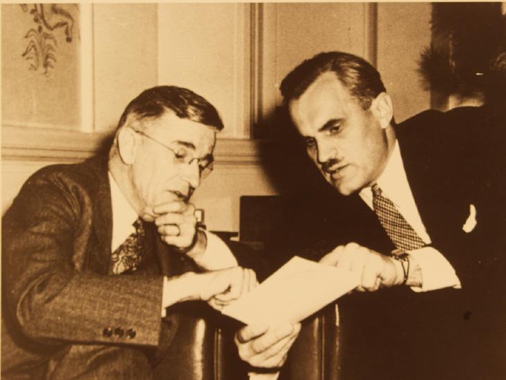 Vannevar Bush and Arthur Compton