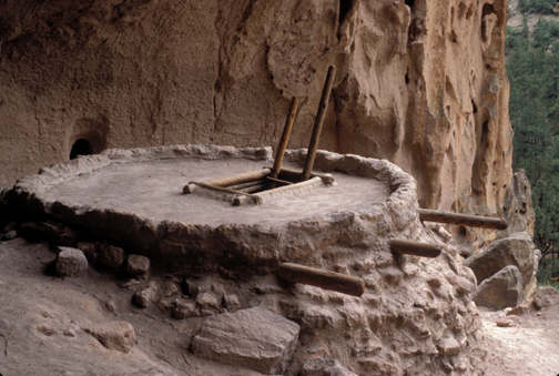 Ceremonial kiva at Bandelier National Park, courtesy of the National Park Service