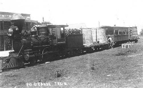 Chili Line train, Rio Grande Railroad, 1920