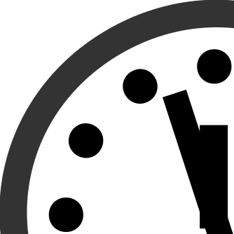 The Doomsday Clock at 3 minutes to midnight