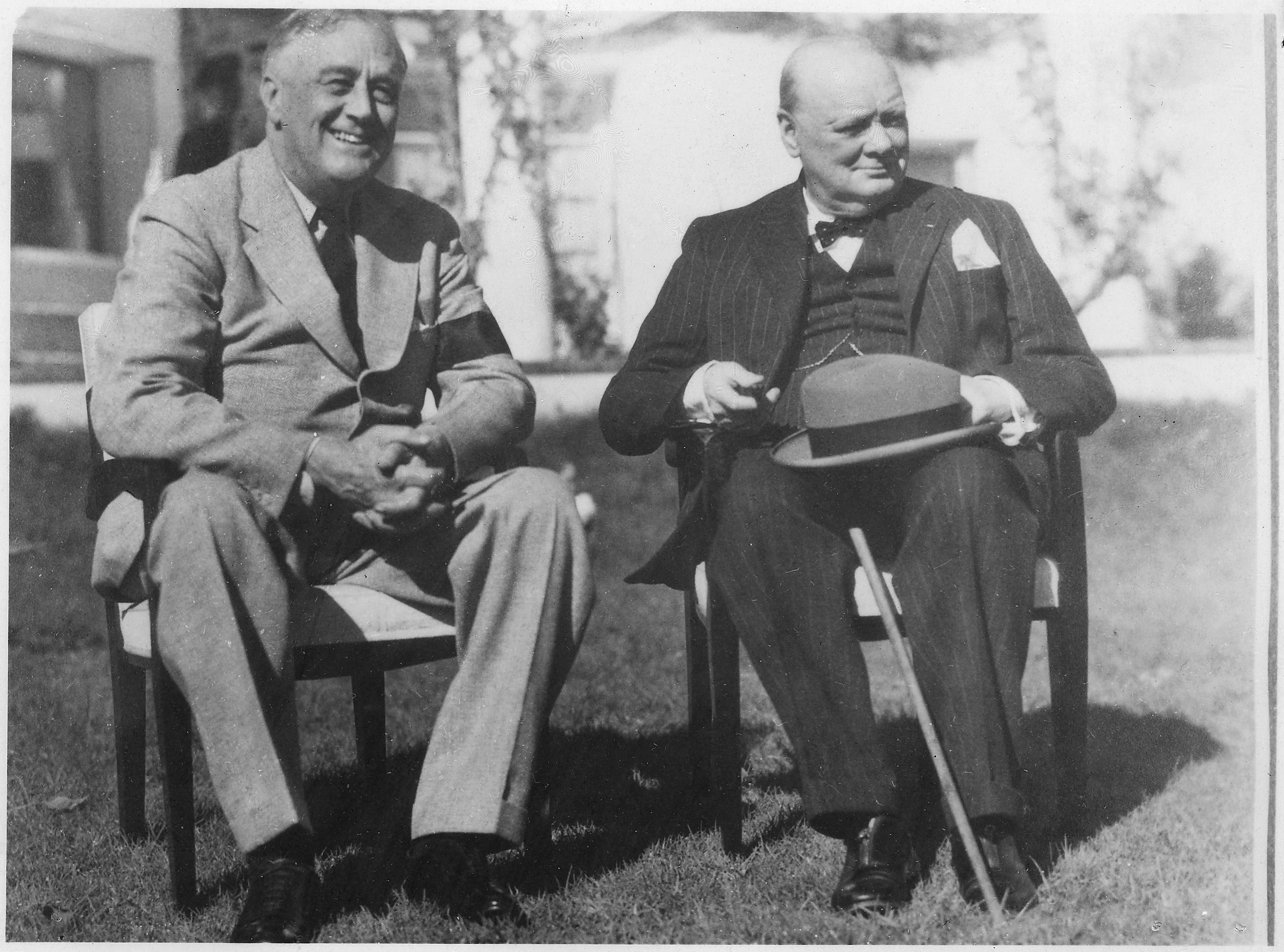 FDR and Churchill.