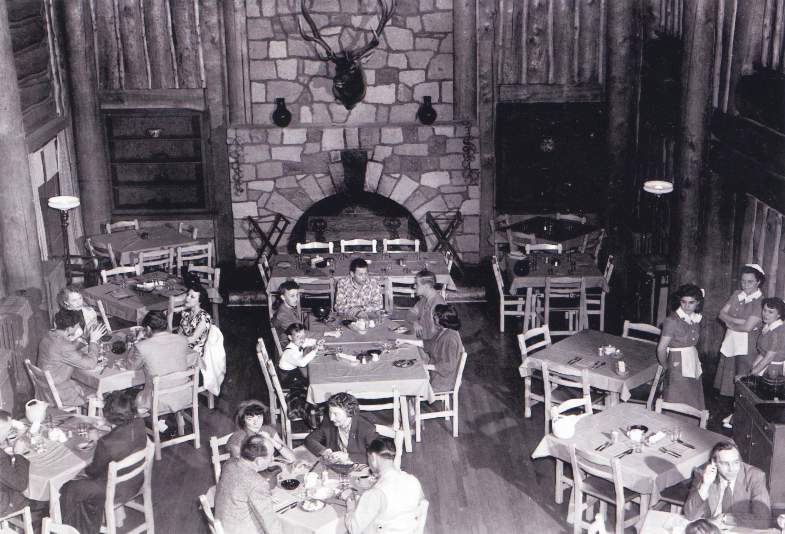 Interior of Fuller Lodge. Photograph courtesy of Los Alamos National Laboratory.