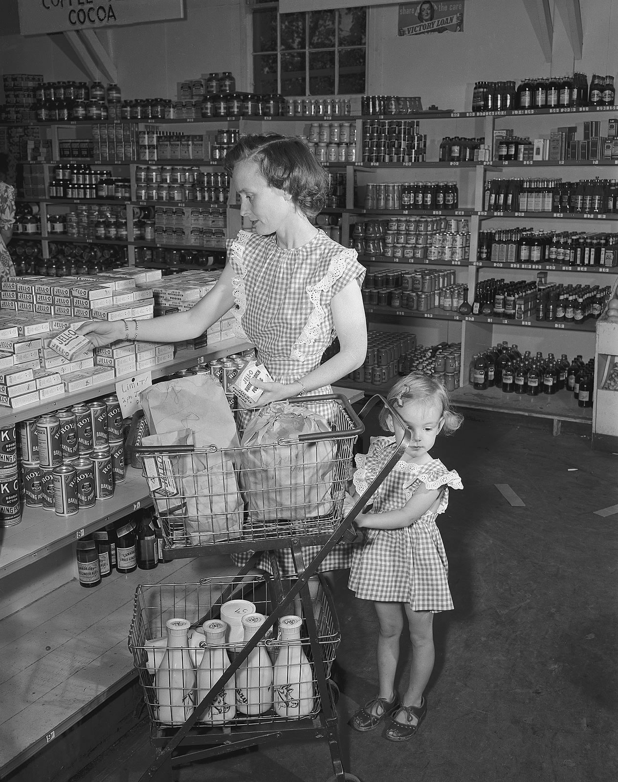 A mother and daughter shopping at Los Alamos. Photograph courtesy of Los Alamos National Laboratory.