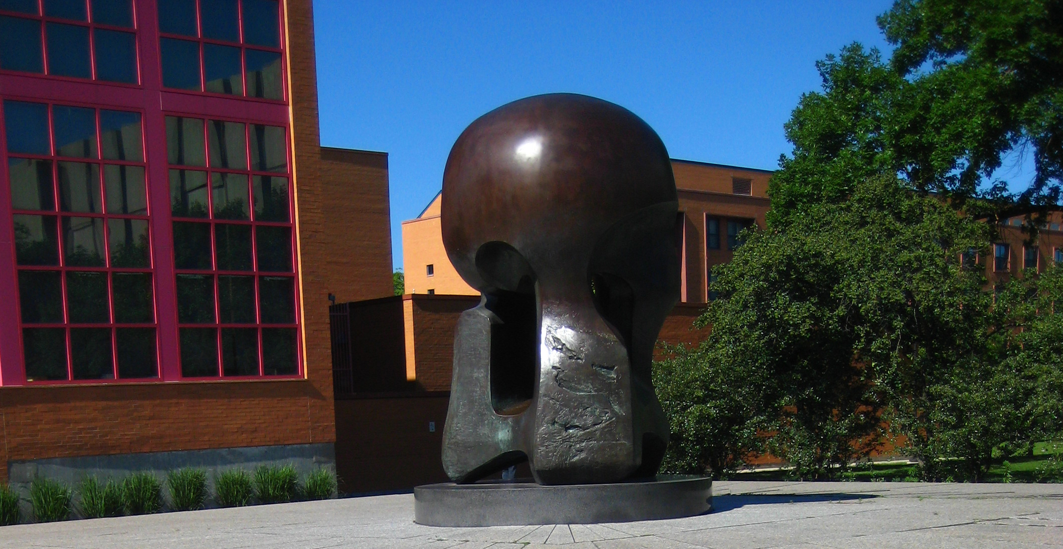 "The ""Nuclear Energy"" sculpture on the University of Chicago campus."
