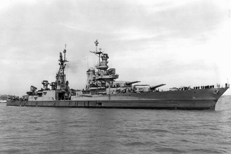 USS Indianapolis being repaired at Mare Island, CA