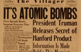 The Hanford newspaper after the bombing of Hiroshima