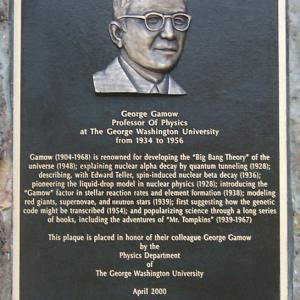 George Gamow Plaque