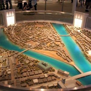 Model of Hiroshima before the bomb