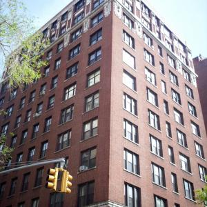 The apartment building where J. Robert Oppenheimer grew up