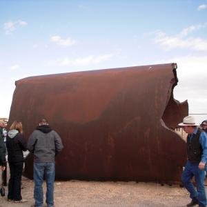 The partially destroyed Jumbo at Trinity site today