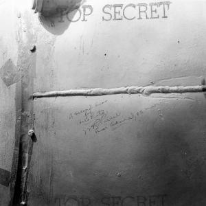 """""""A Second Kiss for Hirohito!"""" Signed by Rear Admiral W.R. Purnell, USN, on the side of Fat Man"""