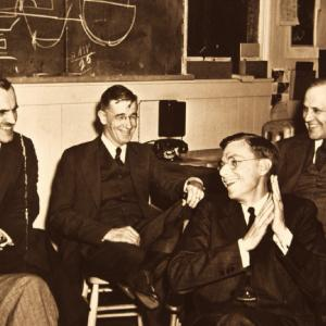 Arthur Compton, Vannevar Bush, James B. Conant, and Karl Compton. Photo courtesy of Donald Cooksey.