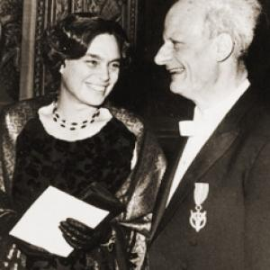 Hans and Rose Bethe, 1967 Nobel Prize Ceremony
