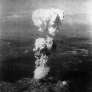 The mushroom cloud over Hiroshima on August 6, 1945