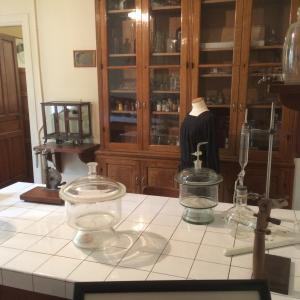 The Curie laboratory today (decontaminated and reconstructed) at the Musée Curie. Picture taken by Simon Mairson.