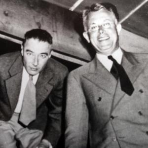 J. Robert Oppenheimer (left) and Ernest O. Lawrence