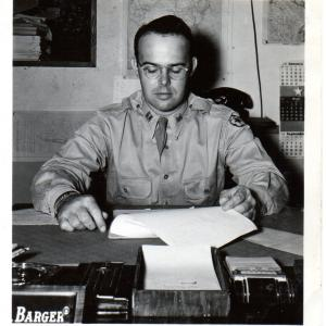 """""""Dean"""" Barger – October 1945. Photo Courtesy of William S. Ginell (WSG)."""