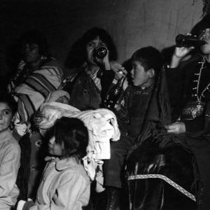 Pueblo women and children at Los Alamos. Photo courtesy of the Robert JS Brown collection