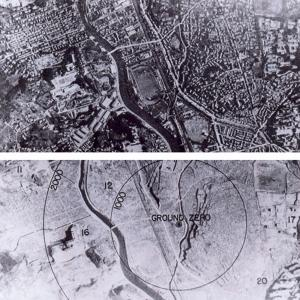 Nagasaki before and after the bombing