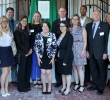 AHF staff with other members of the National Parks Second Century Action Coalition at the reception